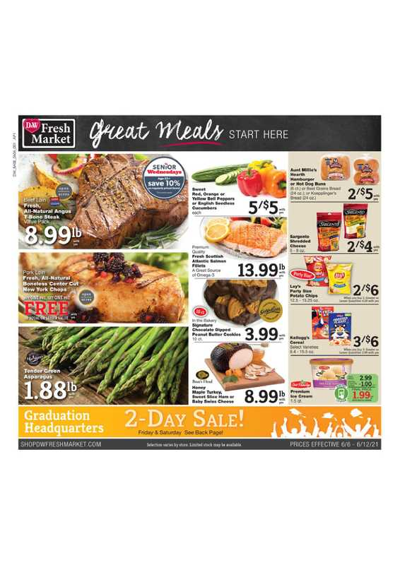 D&W Fresh Market - deals are valid from 06/06/21 to 06/12/21 - page 1.