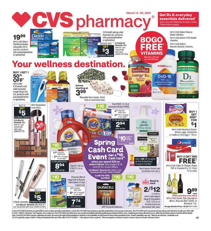 CVS - deals are valid from 03/14/21 to 03/20/21 - page 1.