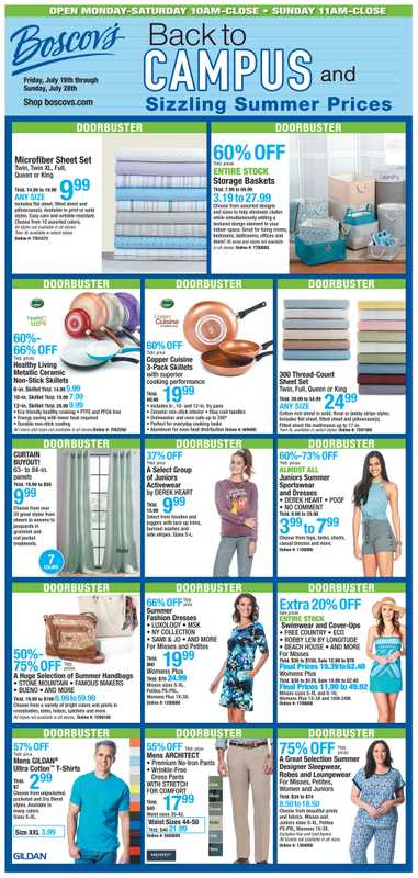 Boscov's - deals are valid from 07/19/19 to 07/28/19 - page 1.