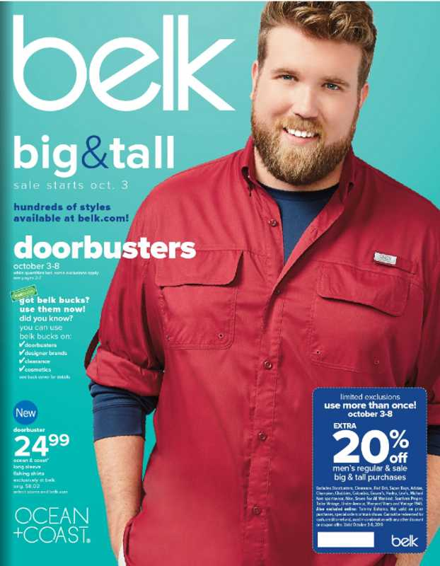 Belk - deals are valid from 10/03/19 to 10/08/19 - page 1.