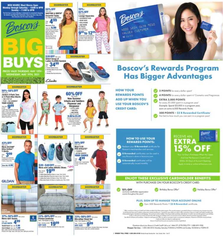 Boscov's - deals are valid from 05/13/21 to 05/19/21 - page 1.