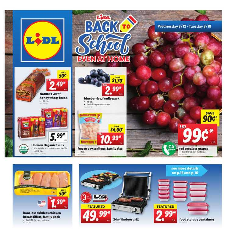 Lidl - deals are valid from 08/12/20 to 08/18/20 - page 1.