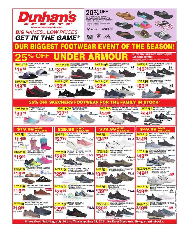 Dunham's Sports - deals are valid from 07/24/21 to 07/29/21 - page 1.
