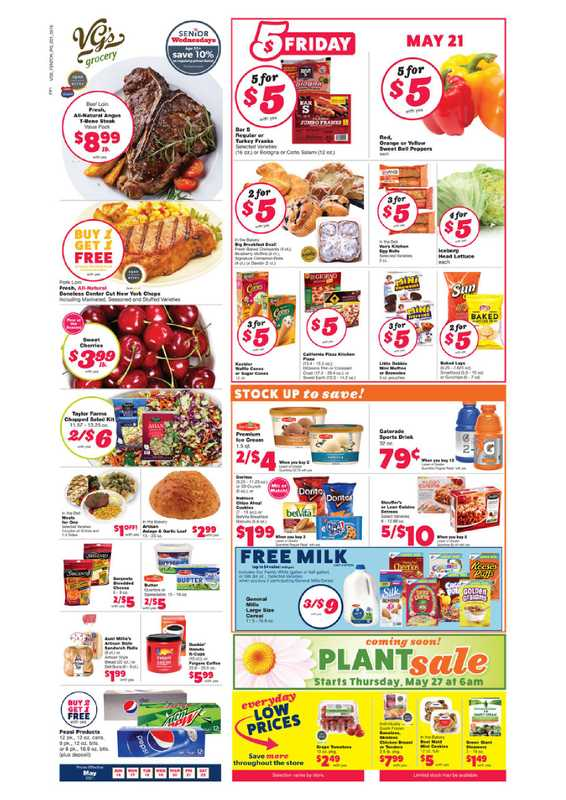 VG's Grocery - deals are valid from 05/16/21 to 05/22/21 - page 1.
