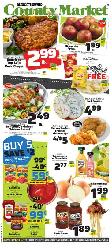County Market - deals are valid from 09/15/21 to 09/21/21 - page 1.