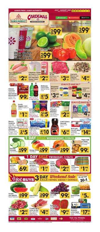Los Altos Ranch Market - deals are valid from 07/28/21 to 08/03/21 - page 1.
