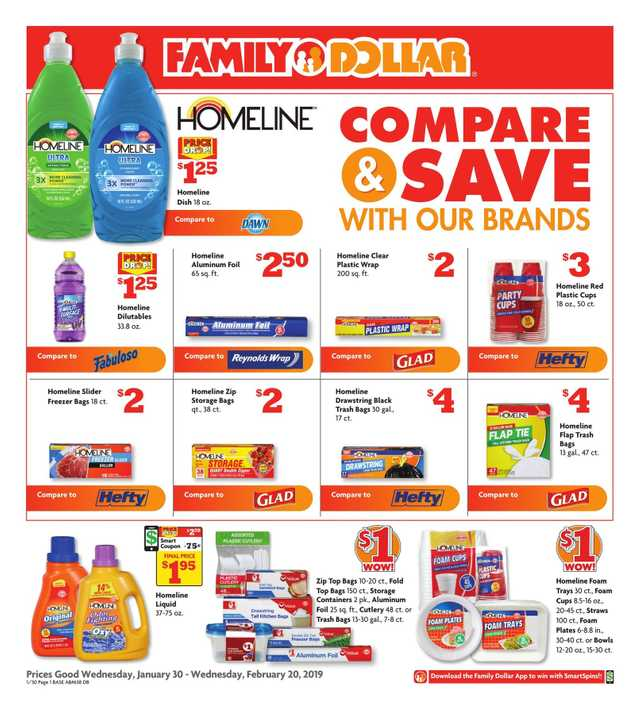 Family Dollar - promo starting from 2019-01-30 - page 1