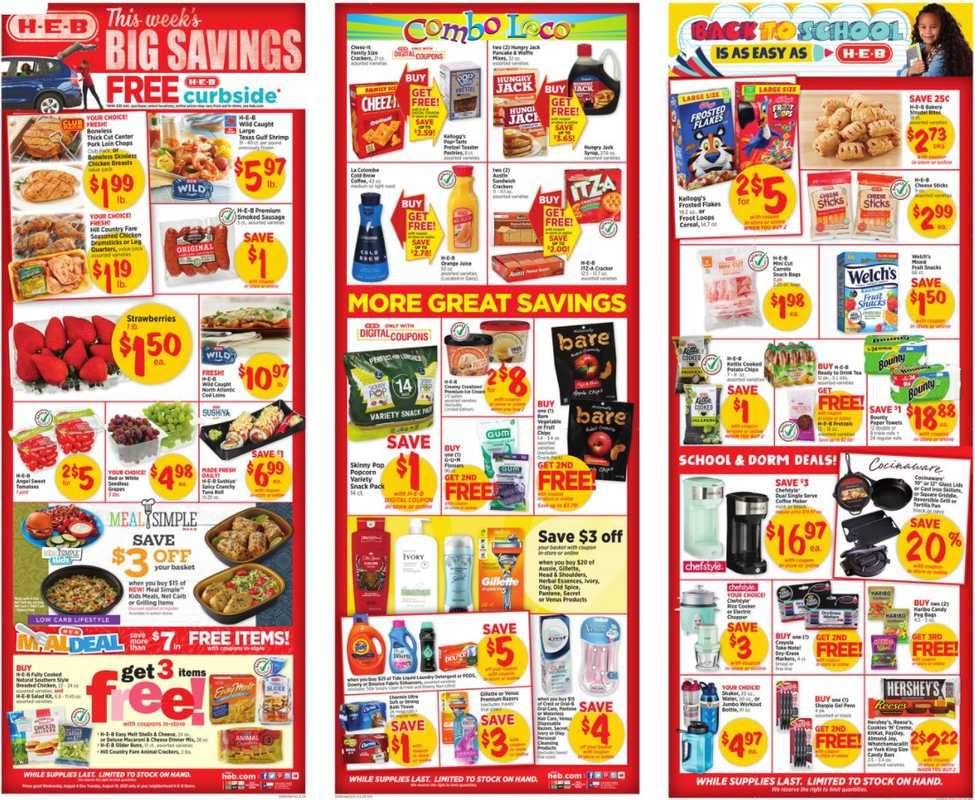 H-E-B - deals are valid from 08/04/21 to 08/10/21 - page 1.
