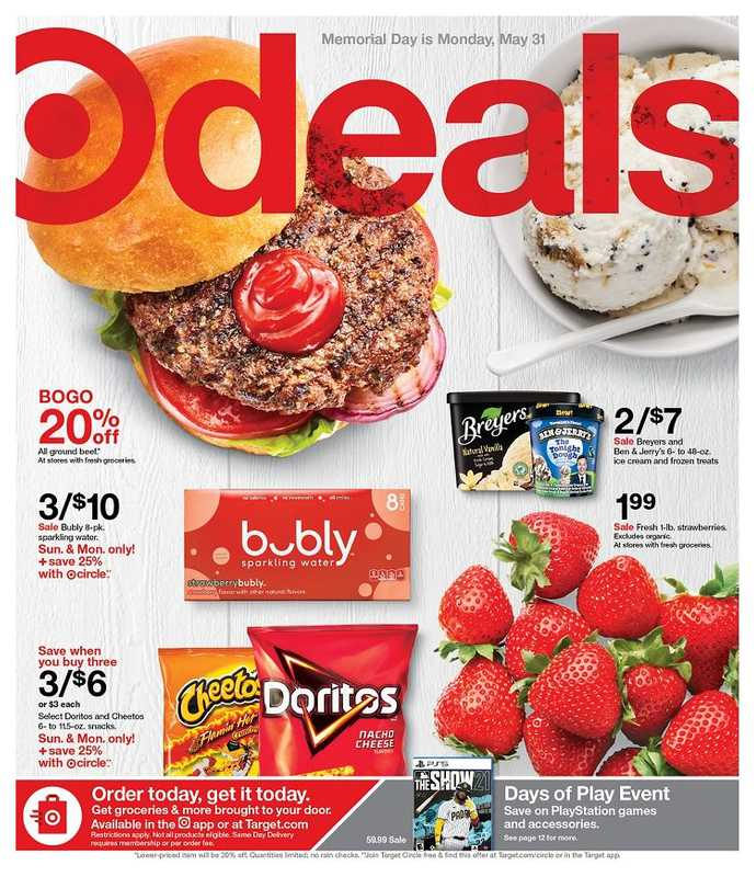 Target - deals are valid from 05/30/21 to 06/05/21 - page 1.