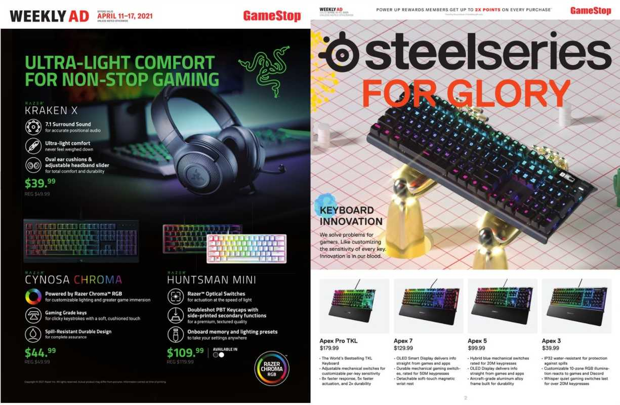GameStop - deals are valid from 04/11/21 to 04/17/21 - page 1.