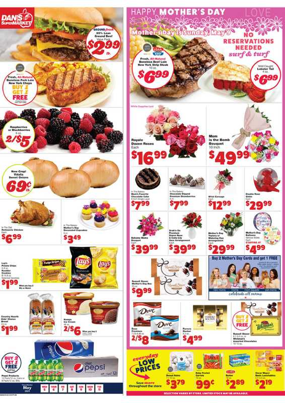 Dan's Market - deals are valid from 05/05/21 to 05/11/21 - page 1.