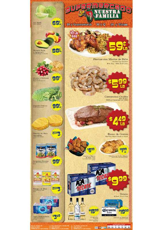 Supermercado Nuestra Familia - deals are valid from 06/09/21 to 06/15/21 - page 1.