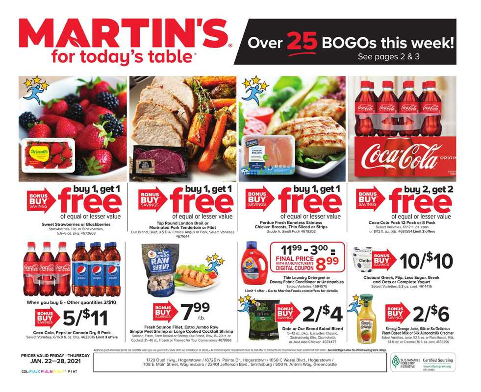 Martin's - deals are valid from 01/22/21 to 01/28/21 - page 1.