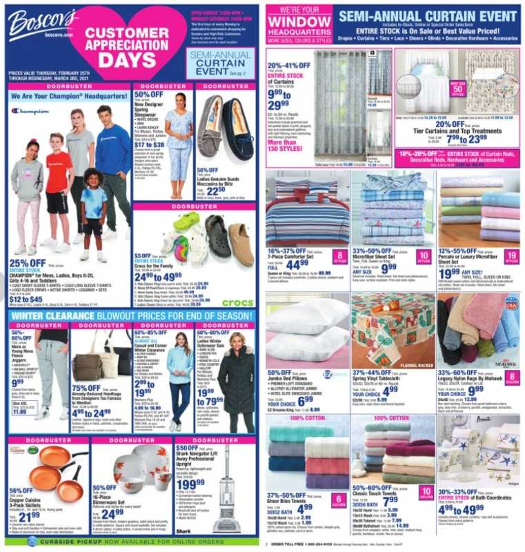 Boscov's - deals are valid from 02/25/21 to 03/03/21 - page 1.