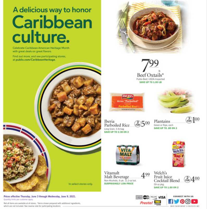 Publix - deals are valid from 06/03/21 to 06/06/21 - page 1.