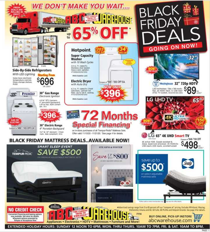 ABC Warehouse - deals are valid from 11/15/20 to 11/21/20 - page 1.