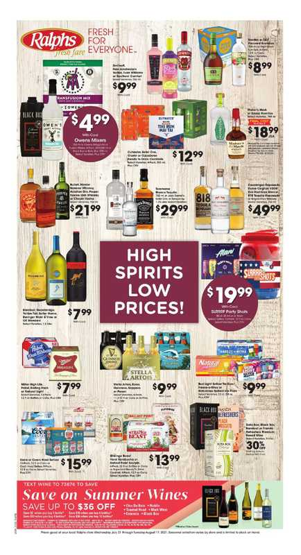 Ralphs - deals are valid from 07/28/21 to 08/03/21 - page 1.