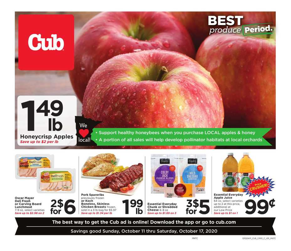 Cub - deals are valid from 10/11/20 to 10/17/20 - page 1.