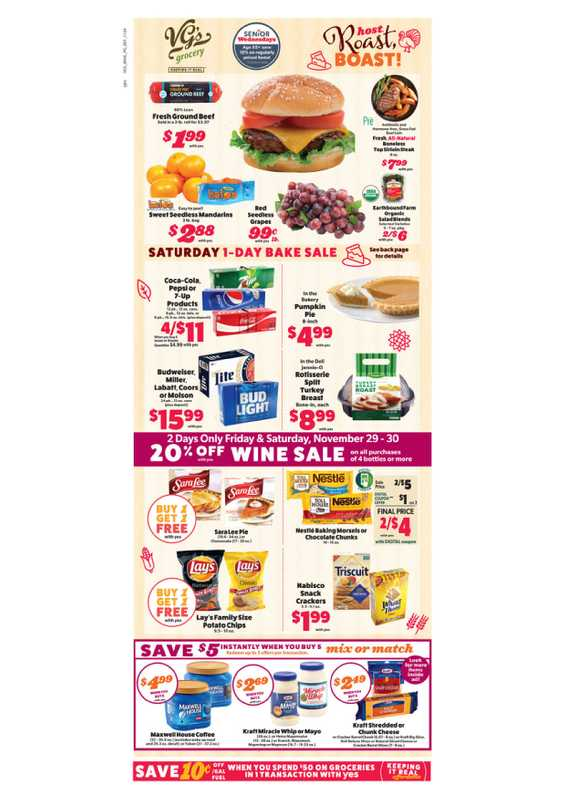 VG's Grocery - deals are valid from 11/24/19 to 11/30/19 - page 1.