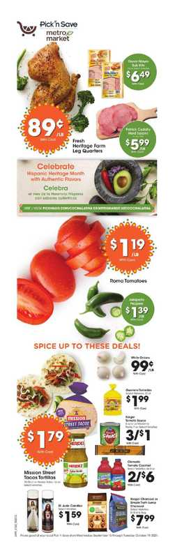 Pick n Save - deals are valid from 09/15/21 to 10/19/21 - page 1.