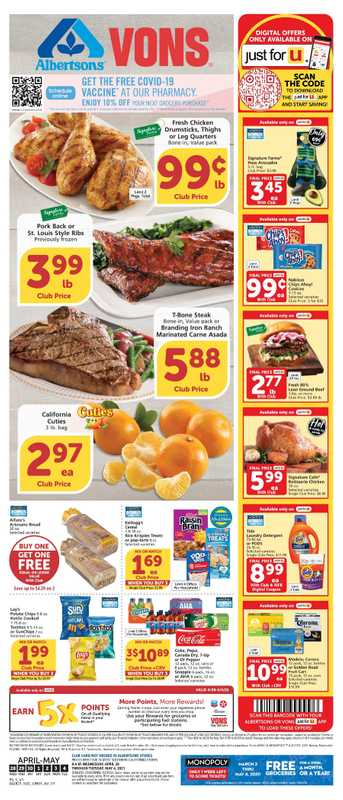 Vons - deals are valid from 04/28/21 to 05/04/21 - page 1.