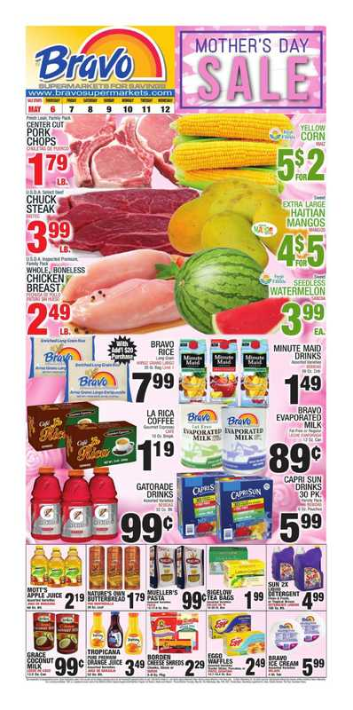 Bravo - deals are valid from 05/06/21 to 05/12/21 - page 1.