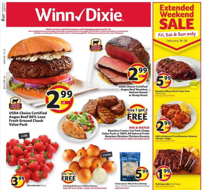 Winn Dixie - deals are valid from 02/24/21 to 03/03/21 - page 1.