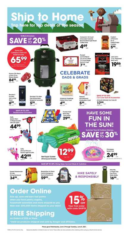Kroger - deals are valid from 06/02/21 to 06/08/21 - page 1.