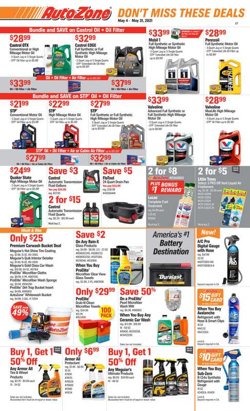 AutoZone - deals are valid from 05/04/21 to 05/31/21 - page 1.